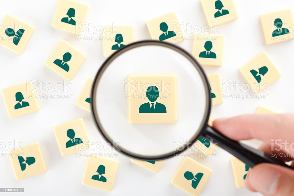 Looking for human resources concept royalty-free stock photo