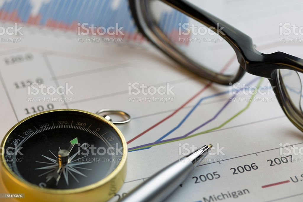 Looking for investment targets stock photo