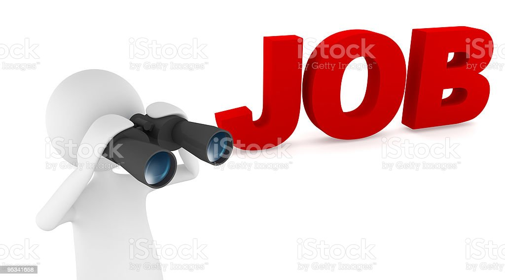 Looking for job royalty-free stock photo