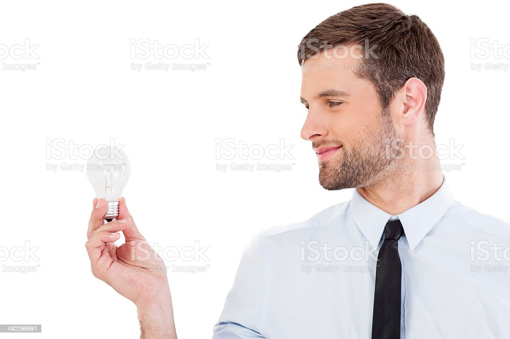 Looking for new ideas. stock photo