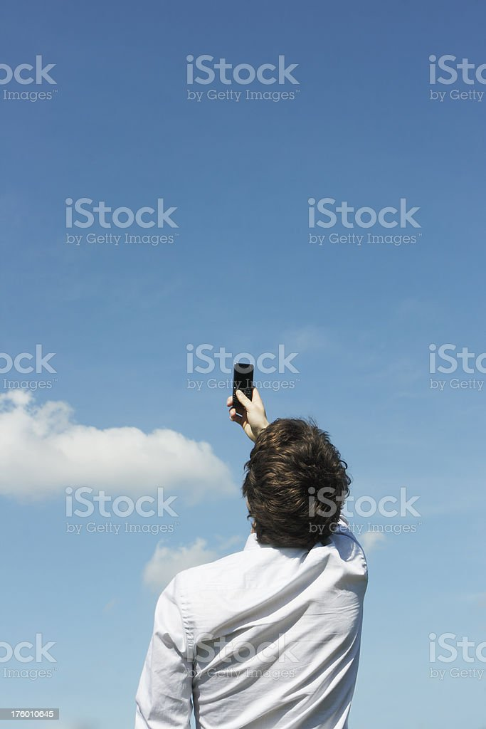 Looking for Signal royalty-free stock photo