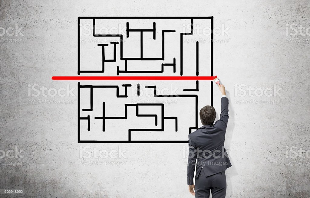 Looking for solution stock photo