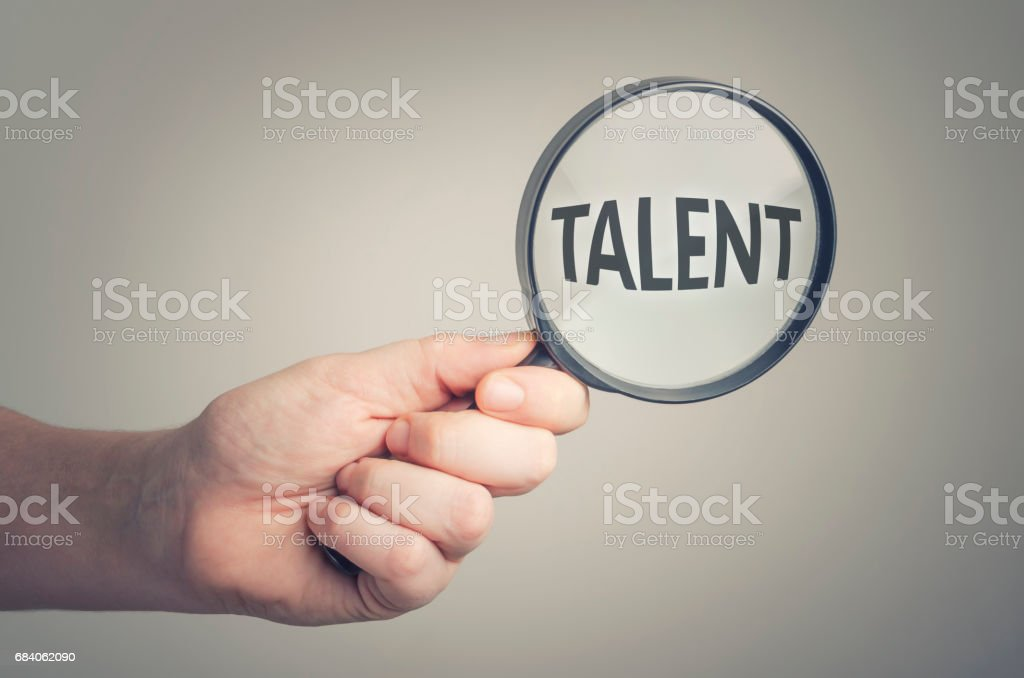 Looking for talent stock photo