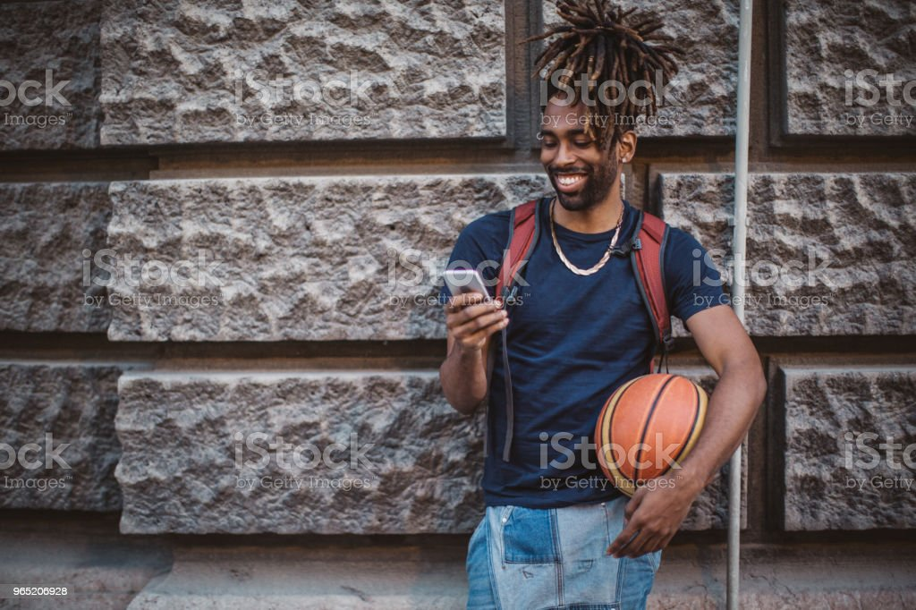 Looking for team for basket royalty-free stock photo