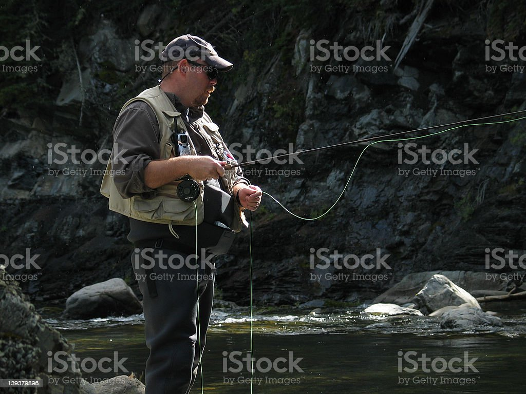 Looking for the BIG one! stock photo