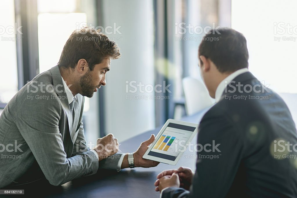 Looking for ways to increase profits stock photo