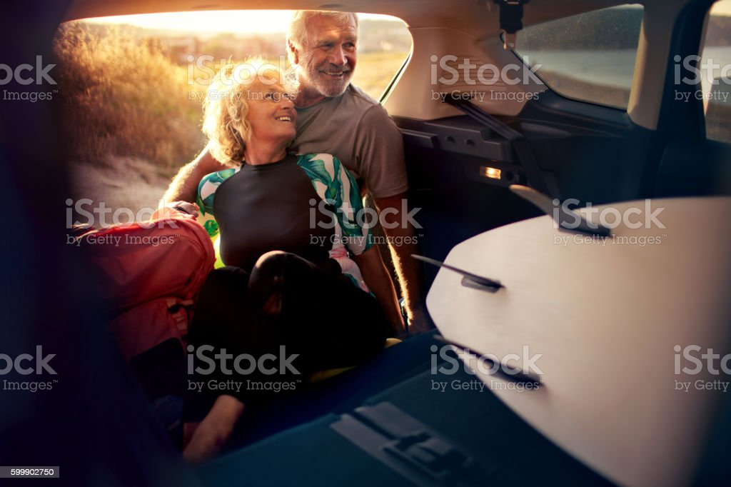 Looking forward for a new adventure stock photo