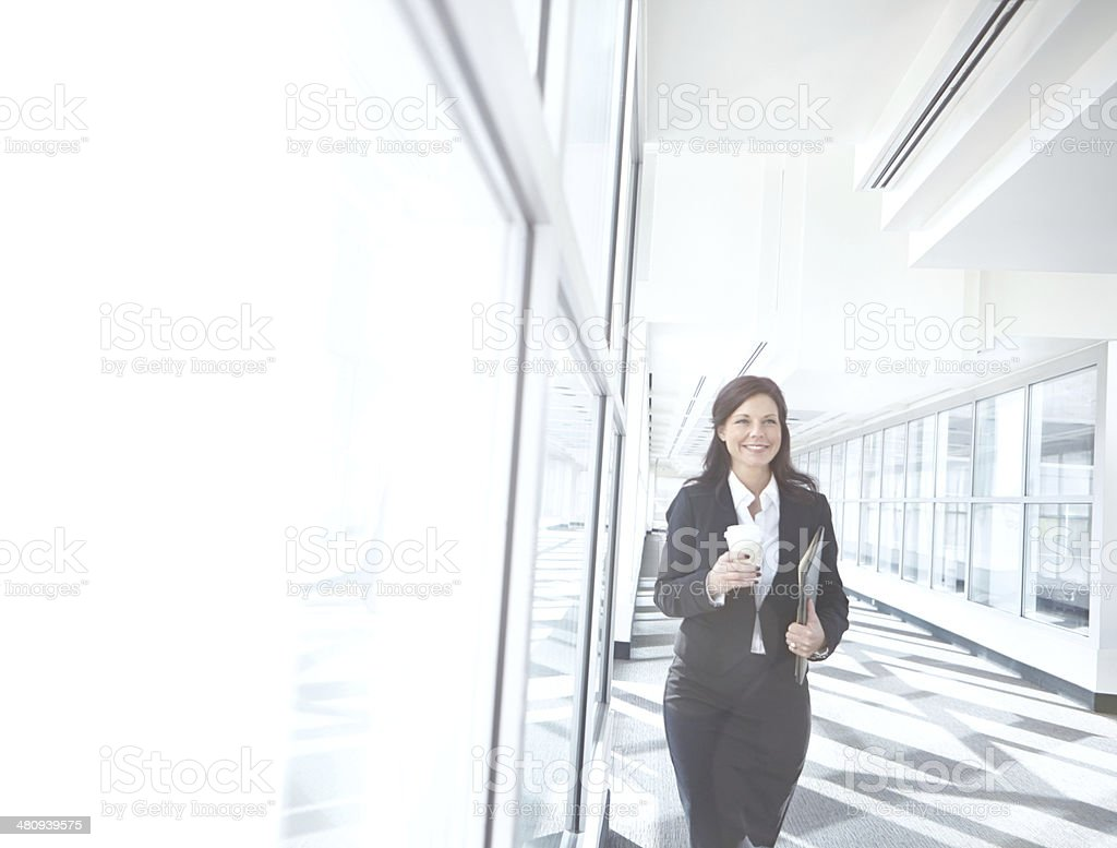 Looking forward to her next meeting stock photo