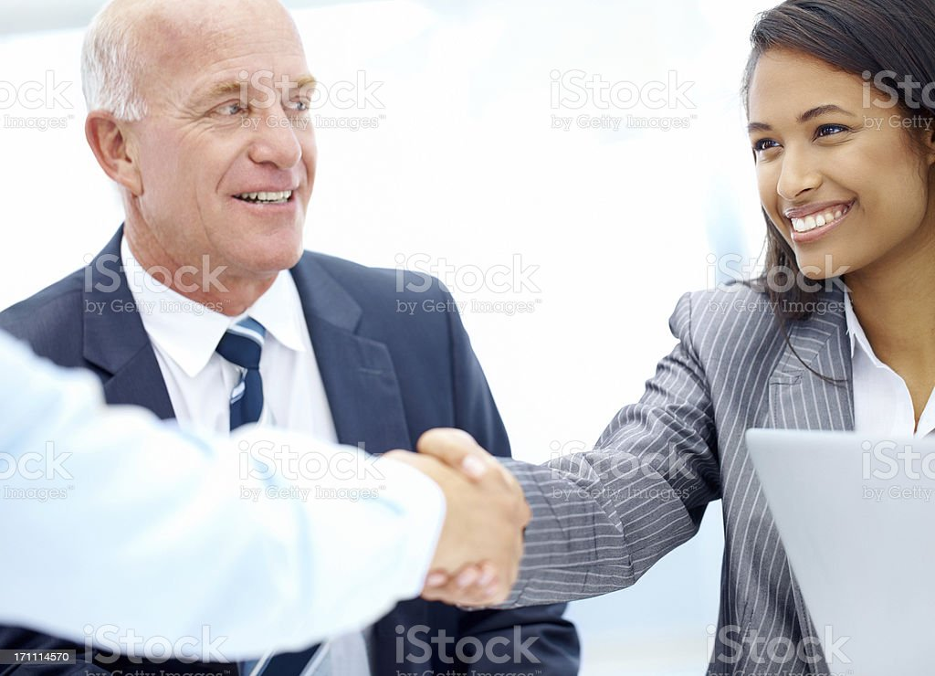 Looking forward to successful business endeavours together royalty-free stock photo