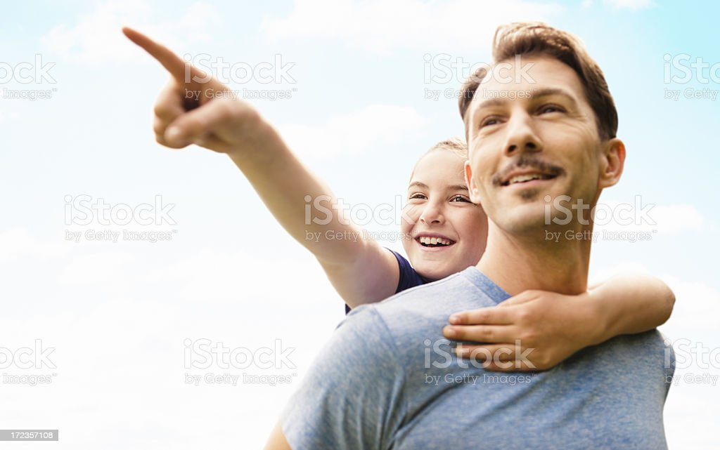 looking forward to the future - family royalty-free stock photo