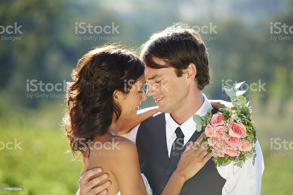 Looking forward to the rest of their life royalty-free stock photo
