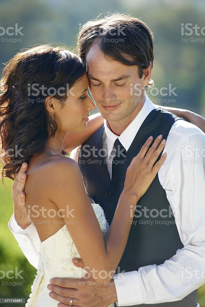 Looking forward to their forever after royalty-free stock photo
