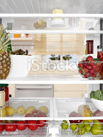 istock looking from inside of a fridge 676705502