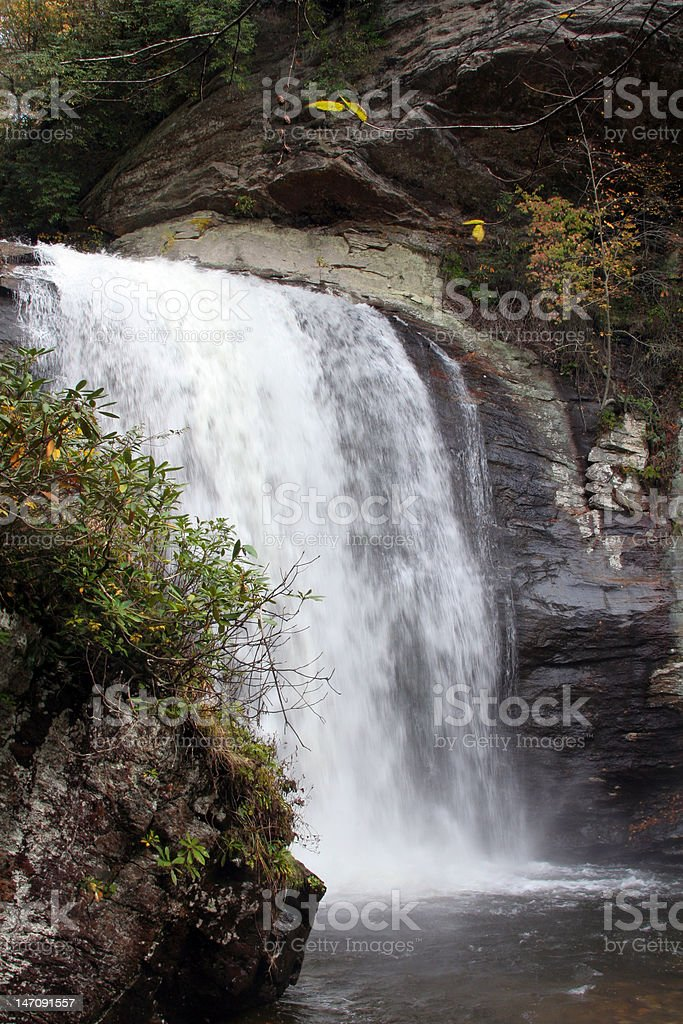 Looking Glass Falls royalty-free stock photo