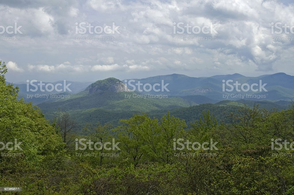 Looking Glass Rock, Blue Ridge Parkway, NC stock photo