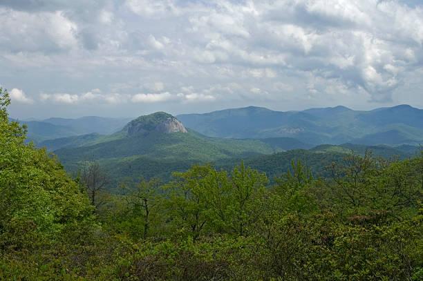 Looking Glass Rock, Blue Ridge Parkway, NC stock photo