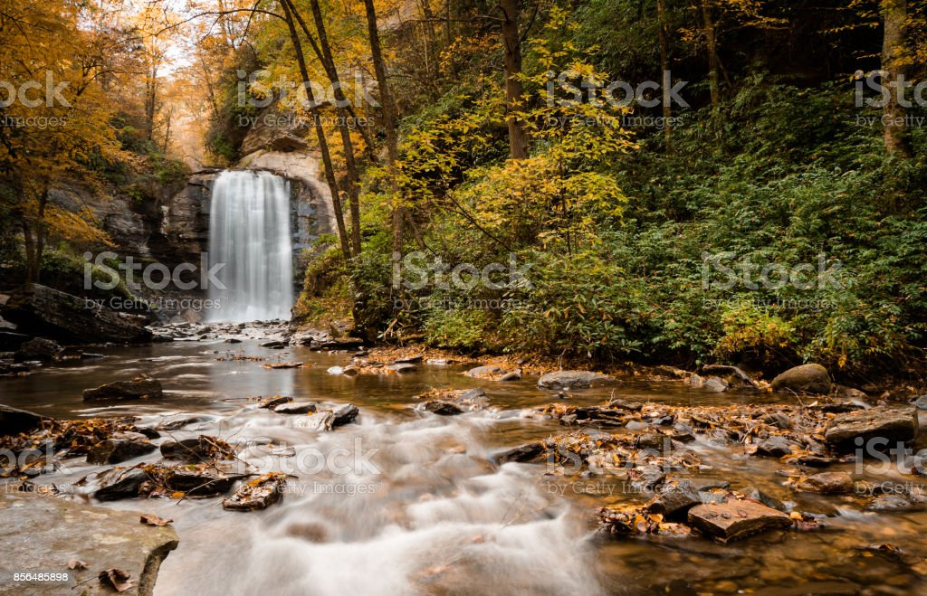 Looking Glass waterfall stock photo
