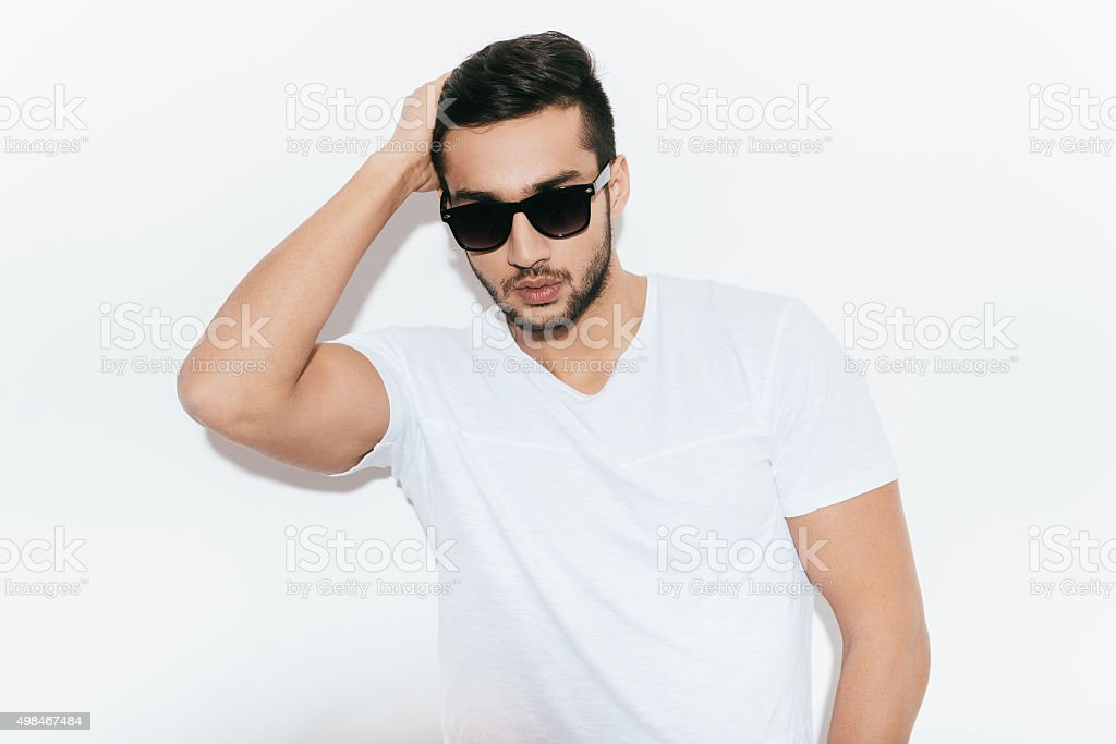 Looking good and feeling confident. stock photo