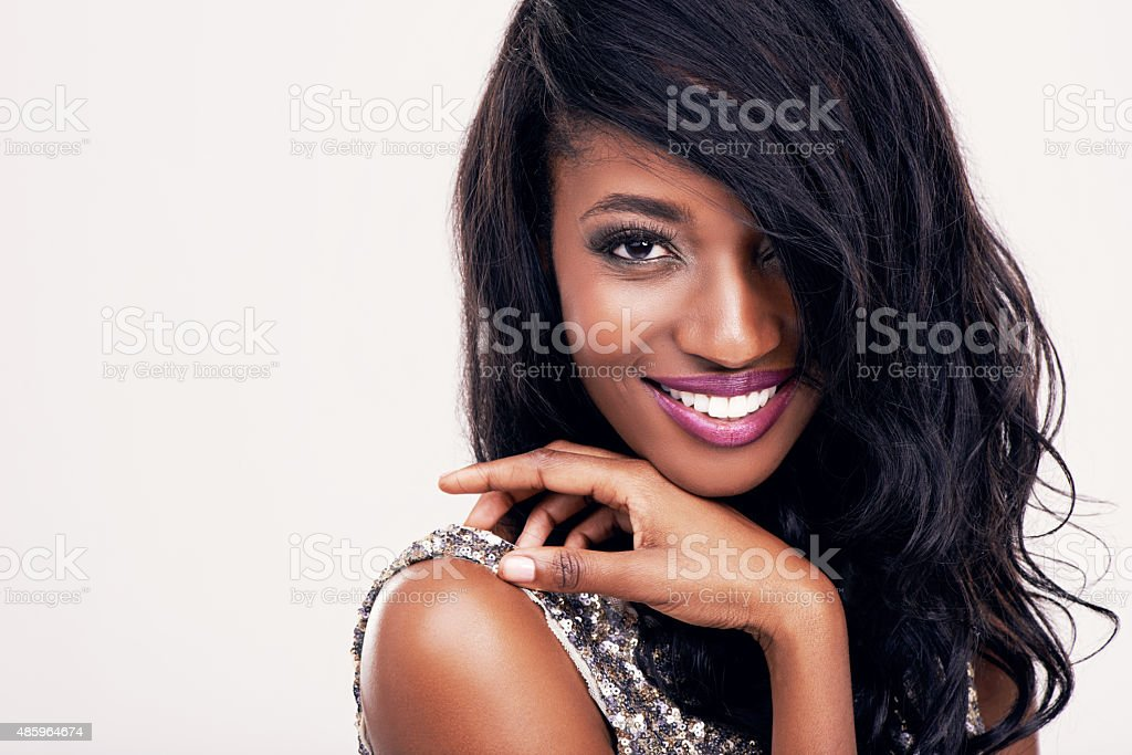 Looking good and she knows it! stock photo