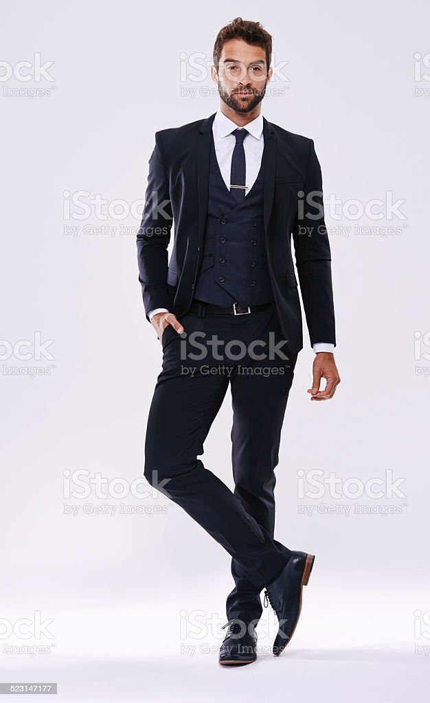 Looking good in a suit stock photo