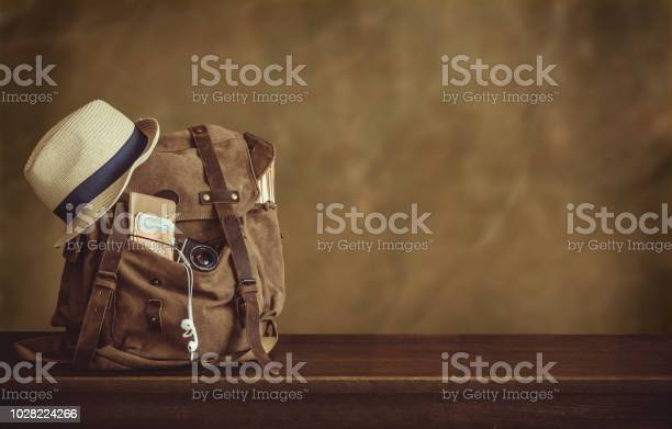 Looking image of travelling concept essential vacation items backpack picture id1028224266?b=1&k=6&m=1028224266&s=612x612&h=e6trkilu58kmi4vfu6qjpbnmgopwuk5ok3aiuqyswby=