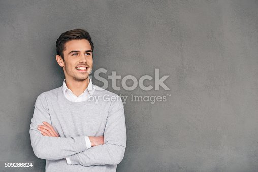 istock Looking in future with smile. 509286824