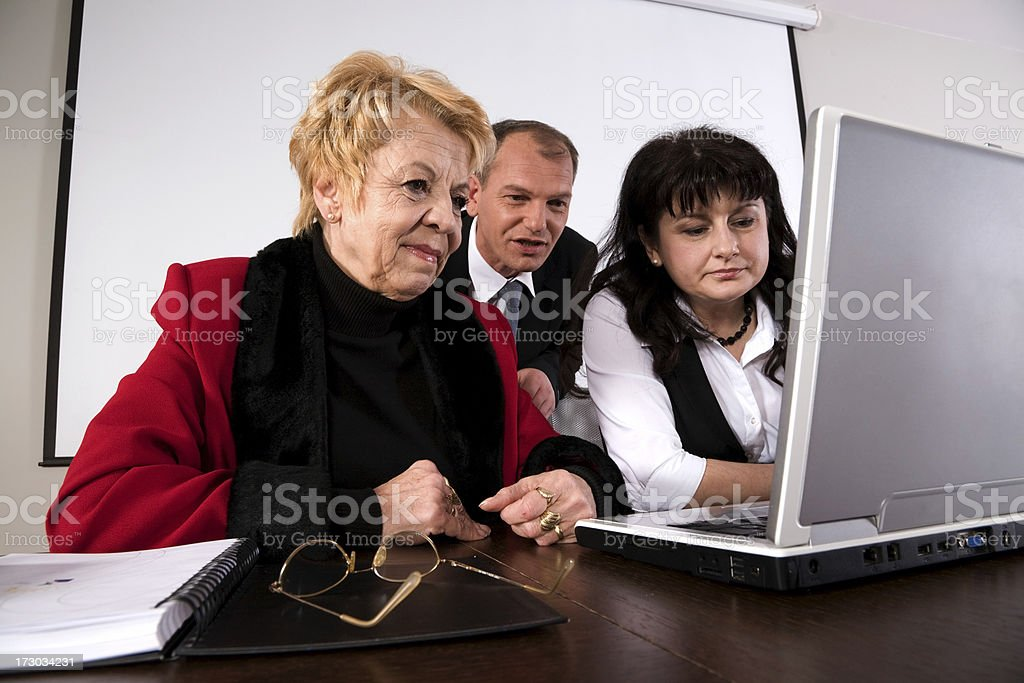 Looking in laptop royalty-free stock photo