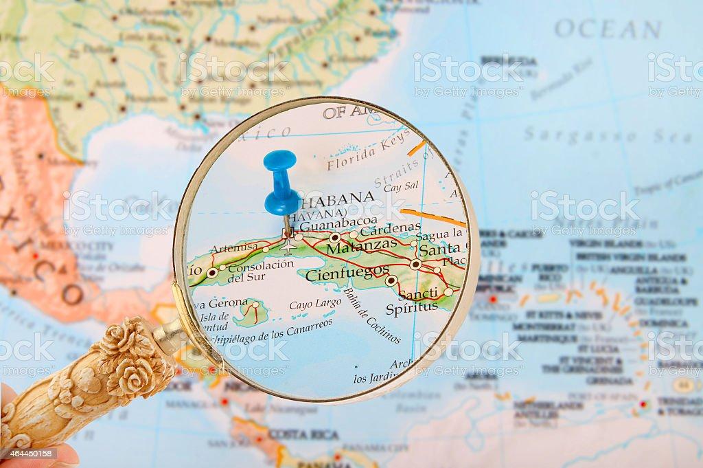 Looking in on Havana or Habana Cuba stock photo