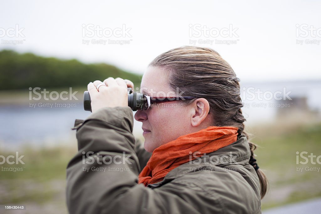 Looking in the Binoculars royalty-free stock photo
