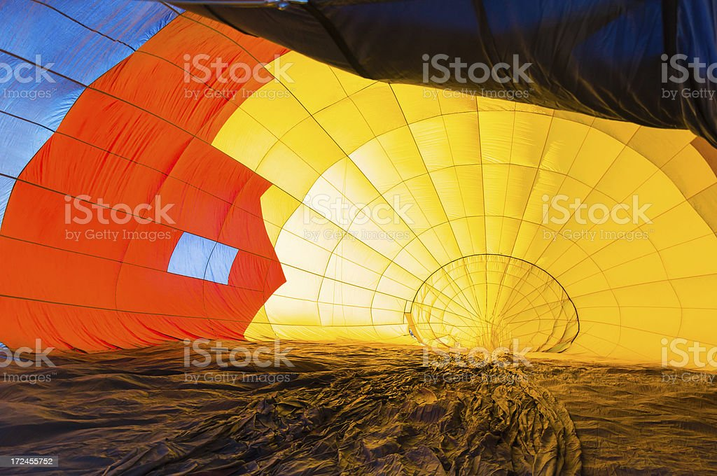 Looking into Hot Air Balloon royalty-free stock photo