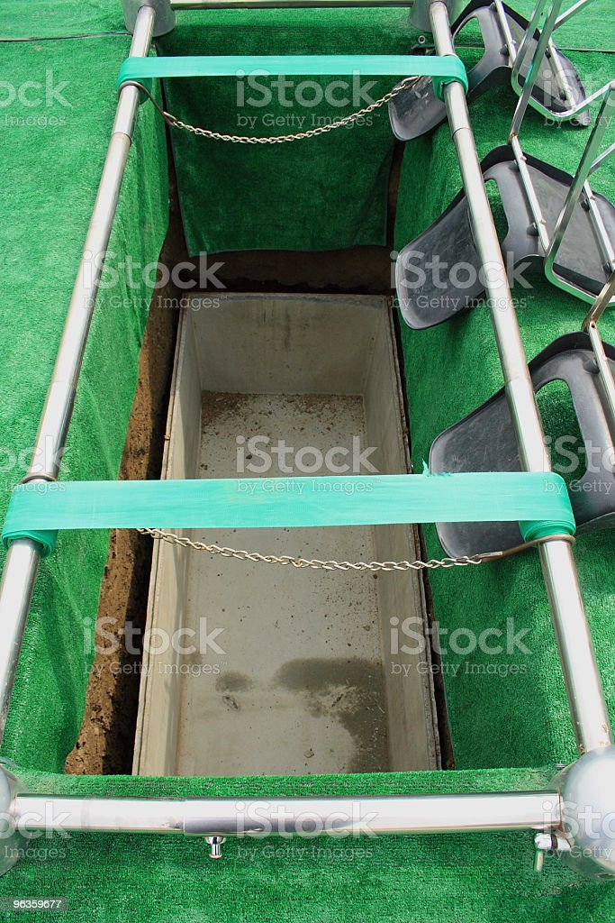 looking into the grave royalty-free stock photo