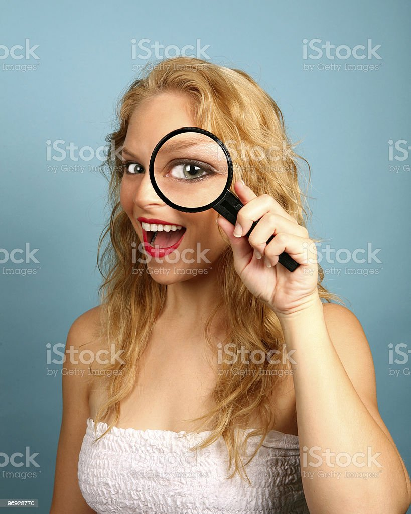 Looking into the spy glass royalty-free stock photo