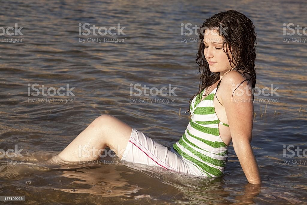 looking into water royalty-free stock photo