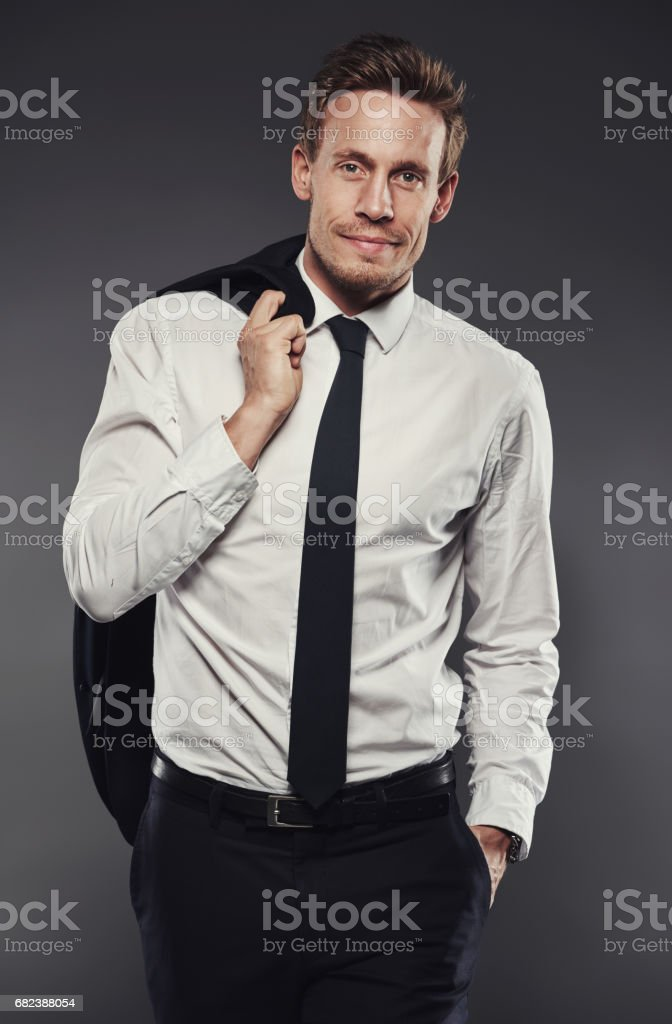 Looking laid back in a stylish suit royalty-free stock photo