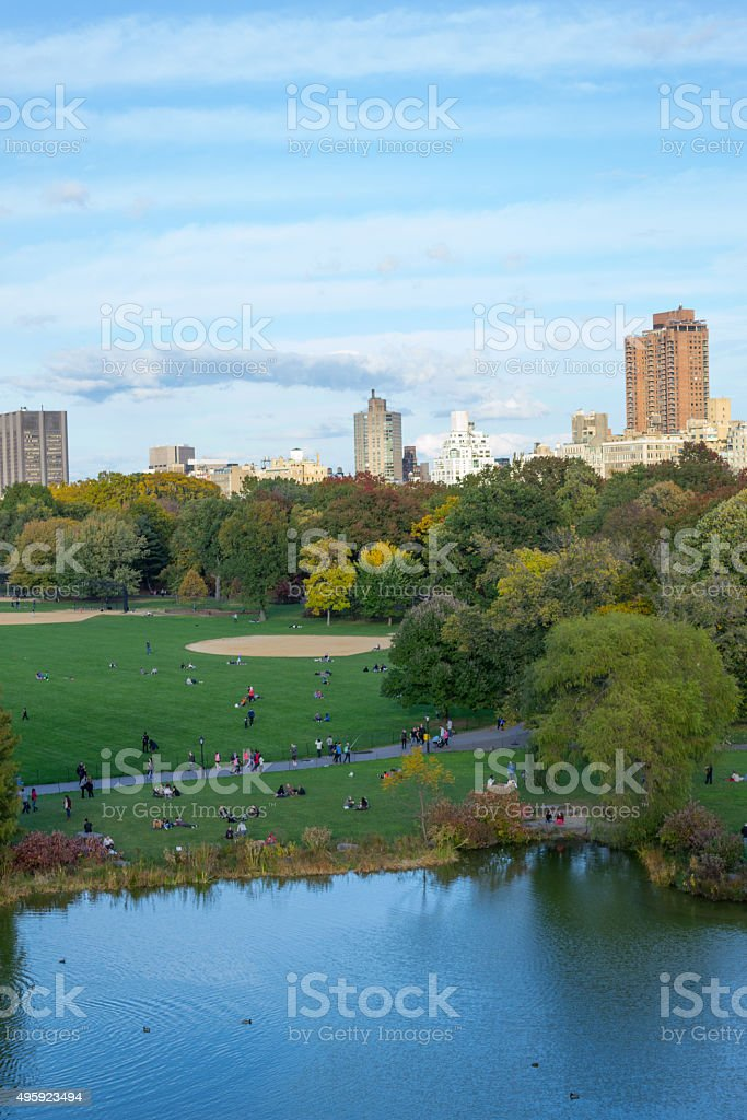 Looking north from the Belvedere castle stock photo