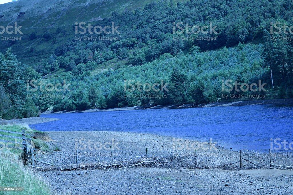 Looking north over Ladybower Reservoir Lizenzfreies stock-foto