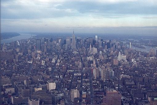 New York city, NY, USA, 1978. Looking north over New York City.