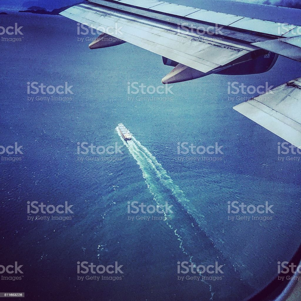 Looking out at the ocean. stock photo