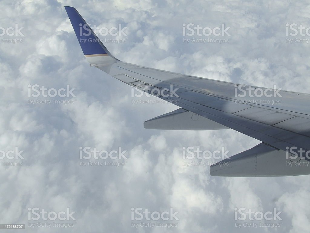 Looking out at wing royalty-free stock photo