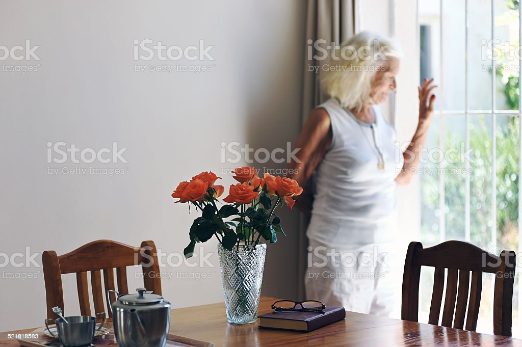 looking out for her friends visit stock photo