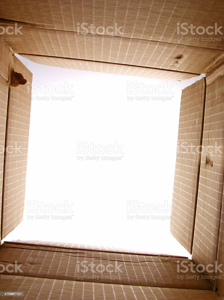 looking out from the box royalty-free stock photo