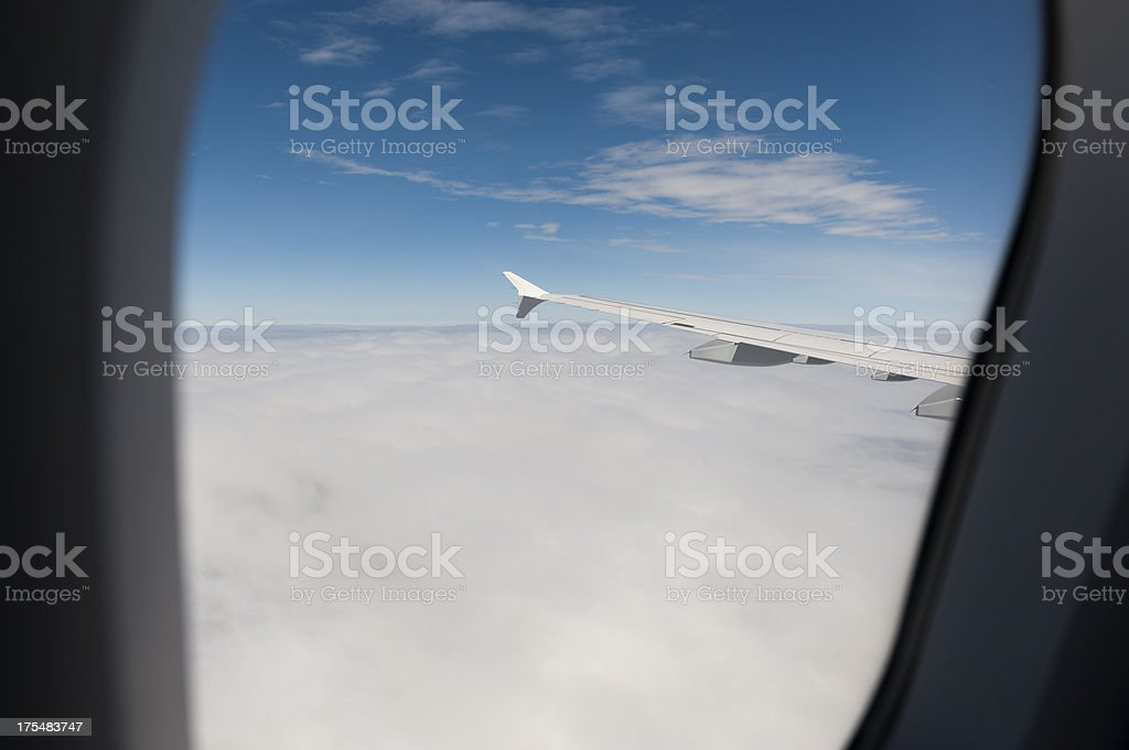 Looking out of the window seat stock photo