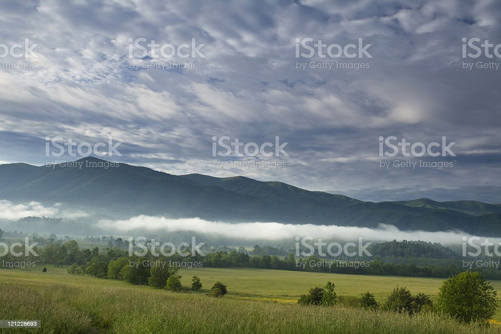Looking out over Cades Cove stock photo