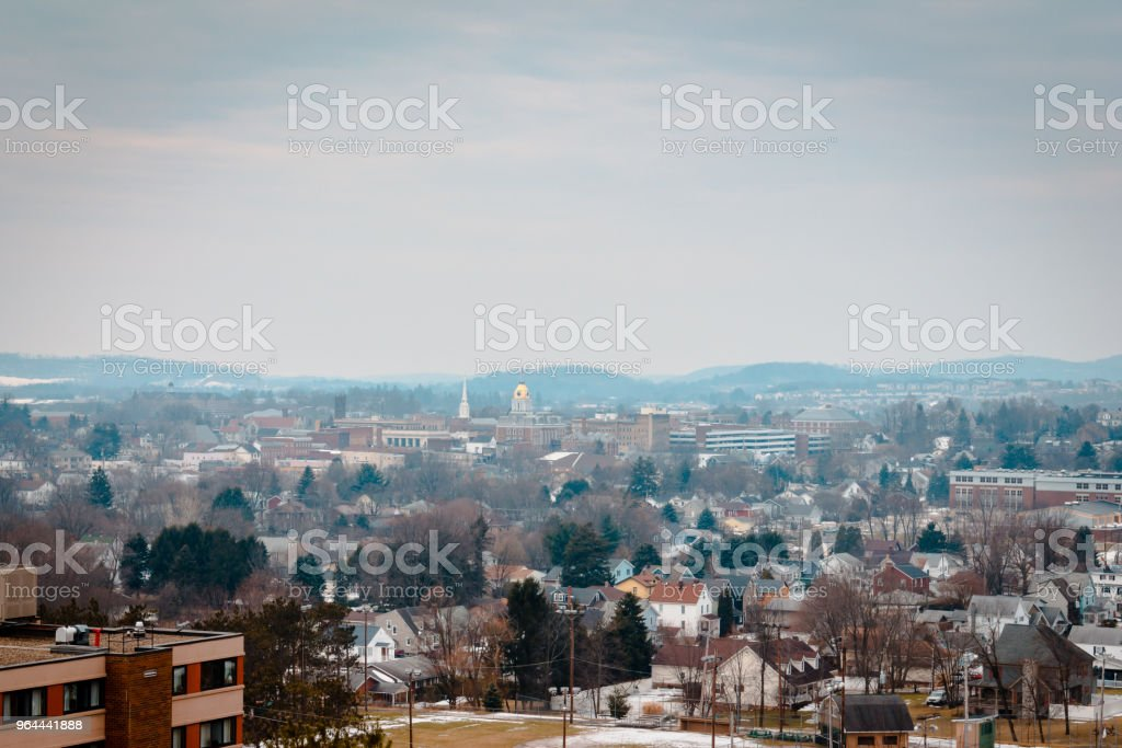 Looking out over Indiana Pennsylvania during a winter morning - Royalty-free Architecture Stock Photo
