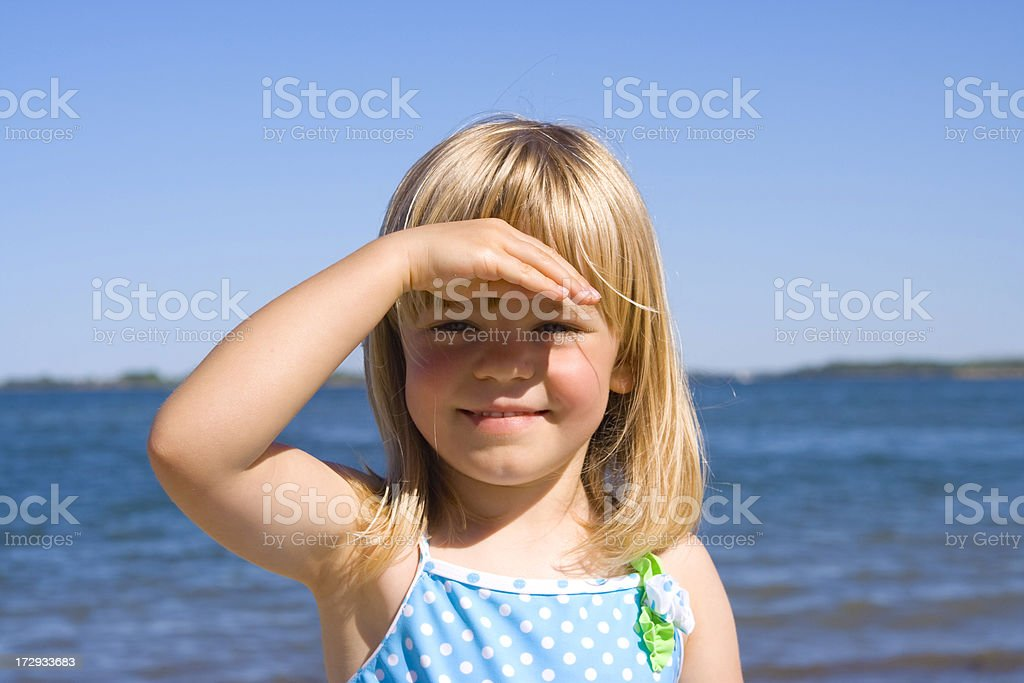 Looking out over the beach royalty-free stock photo