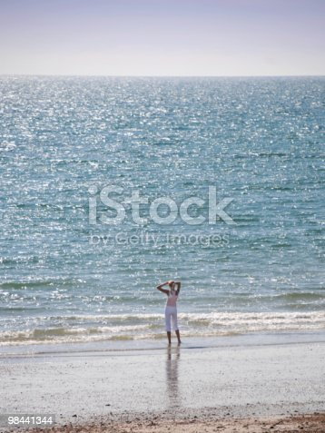 Looking Out To Sea Stock Photo & More Pictures of Adult