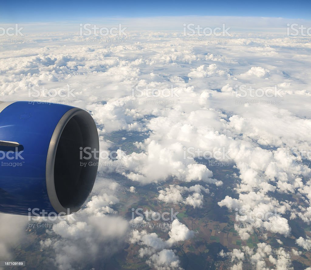 Looking outside an Airplane Window royalty-free stock photo