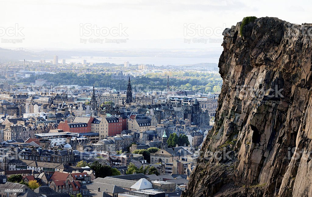 Looking Over Edinburgh stock photo
