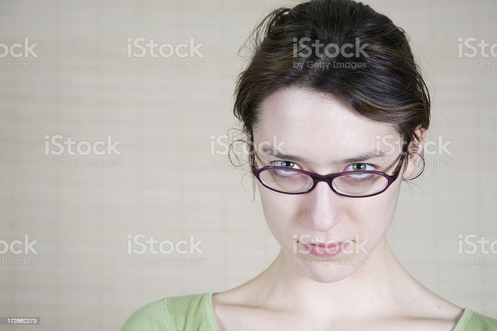 Looking Over Glasses royalty-free stock photo