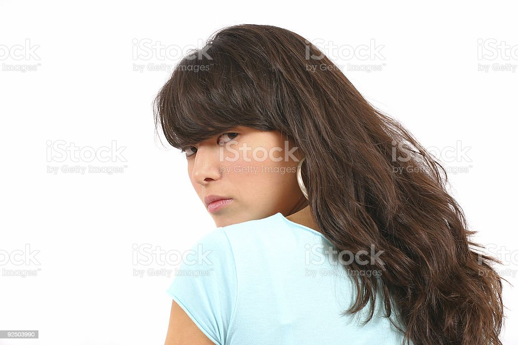 Looking over my shoulder royalty-free stock photo